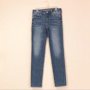 American Eagle Med Wash Skinny Denim Jeans